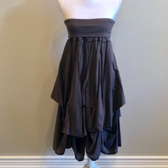 baba Dresses & Skirts - Brown Strapless Dress or Long Skirt by Baba
